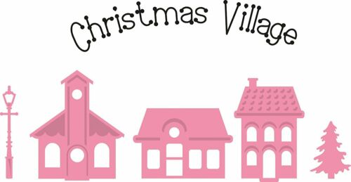 Marianne Design 6-Piece Christmas Mini Village Collectables Cutting Die and Set,