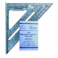Swanson Tool S0101 7-inch Speed Square Layout Tool with Blue Book New