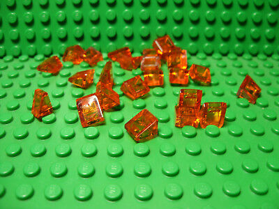 ** 25 CT LOT **  Lego NEW trans neon orange 1 x 1 round plate pieces A-16