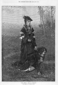 1874-FINE-ART-Antique-Print-Who-Comes-Friedrich-August-Von-Kaulbach-121