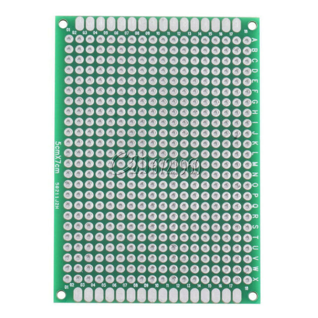 10Pcs Double Side 5x7 cm Prototype Universal FR-4 Glass Fiber PCB Board
