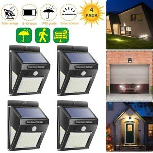 Luz-de-Energia-Solar-Sensor-De-Movimiento-Pir-Jardin-Exterior-Patio-LED-Lampara-De-Pared-De