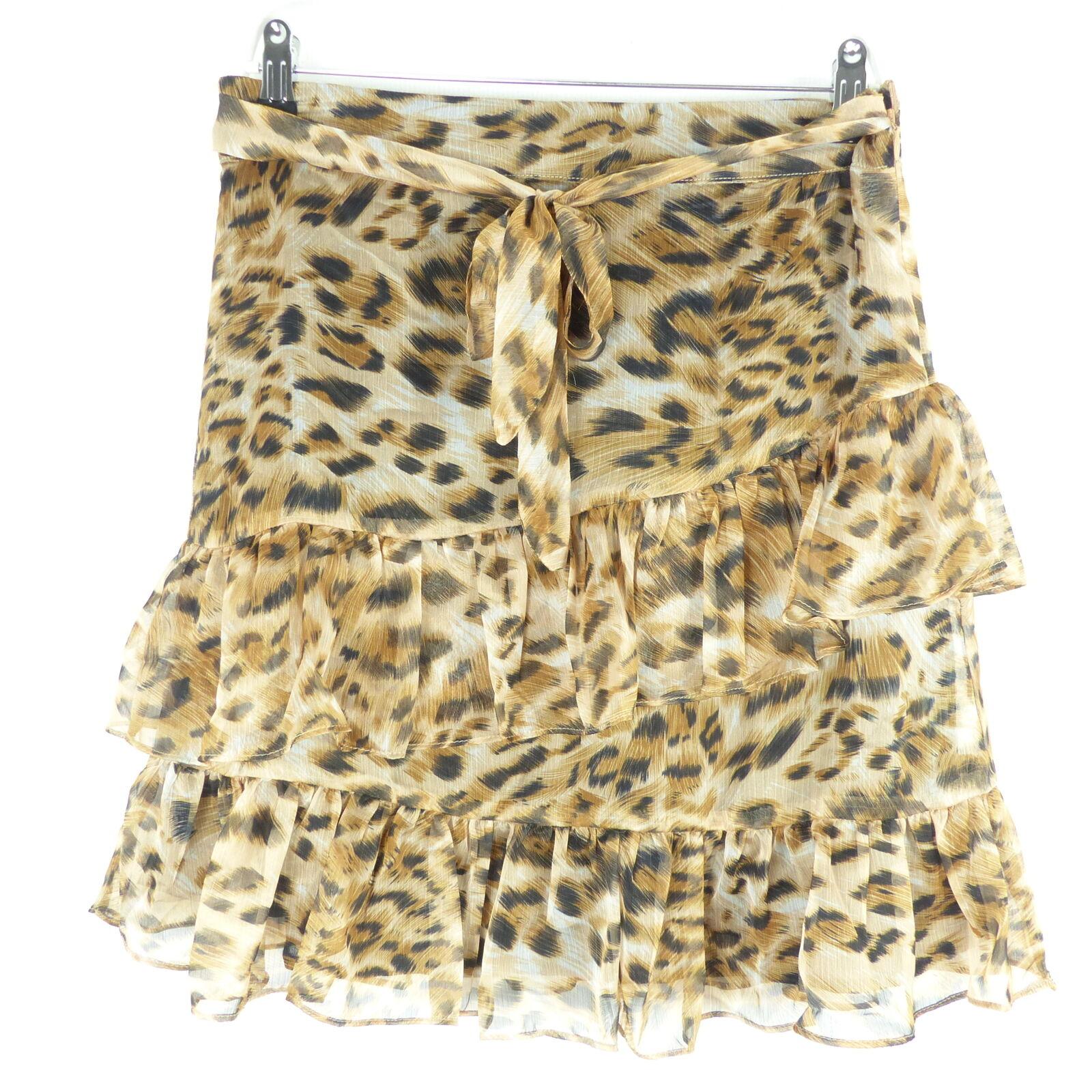 Sofie Schnoor gonna skirt leopard leopard leopard animale pelliccia tg S 36 efc2b8