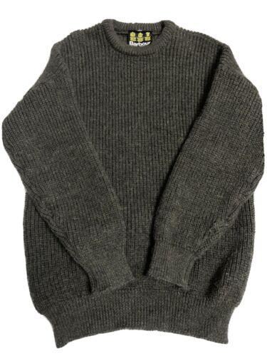 Men's Barbour Vintage 100% Wool Sweater Pullover C