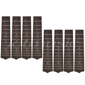 8Pcs Ukulele Fingerboard for Soprano Hawaii Guitar Replacement 12 Fret Rosewood