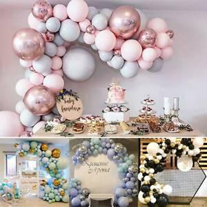 Geburtstag-Ballon-Konfetti-Bogen-Kit-Girlande-Party-Hochzeit-Luftballons-Dekor