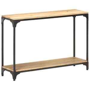 vidaXL Bois de Manguier Massif Table Console 110x30x75 cm Couloir Entrée Salon