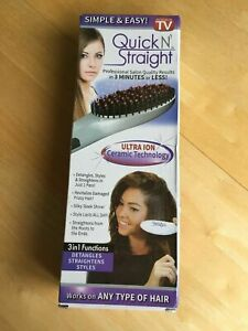 Quick N Straight Original Hair Straightening Iron Brush Qns1890