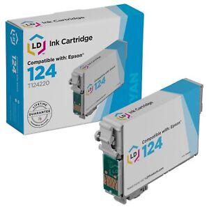 LD-T124220-124-Reman-Cyan-Ink-Cartridge-for-Epson-Printer