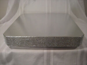 Details About 14 Inch Wedding Cake Stand Square Dazzling Diamonds Cake Stand Riser Base