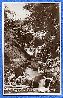 """THE WATERFALL HEALEY DELL ROCHDALE ~ LANCASHIRE ~ REAL PHOTO """"VALENTINE""""  209390"""