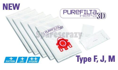 Pour adapter miele pour aspirateur MIELE Fjm Purefilta Hepa Aspirateur 3D Sac à Poussière /& Filtre 5 Pack