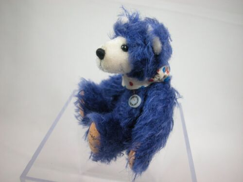 "World of Miniature Bears 3/"" Mohair Pellet Bear Bubba #844 Collectible Bear"