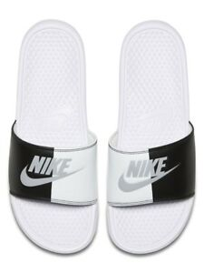 Image is loading NIKE-Men-039-s-Benassi-Athletic-Sandal-White- b25f5bfda