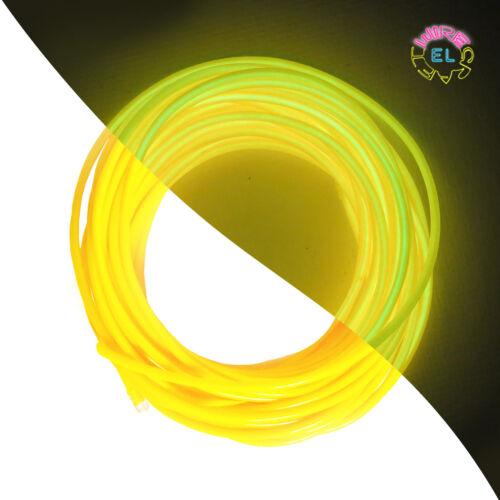 Festival Party Neon Glow EL Wire = 3 pieces of 1metre EL Angel Hair Driver