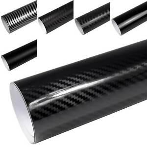 7-9-m-Auto-Folie-SCHWARZ-3D-4D-5D-Carbon-Folie-GLANZ-MATT-Folie-Blasenfrei