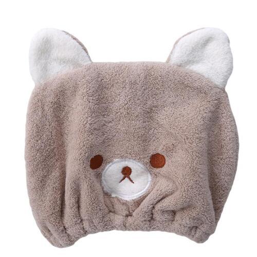 Microfibre Hair Drying Towel Wrap Head Hat Bun Bow Cap Microfiber Soft JA