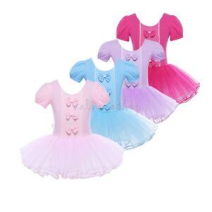 c1b922cd8f24 Girls Ballet Tutu Dress Toddler Kids Gymnastics Leotard Skirt Dance ...