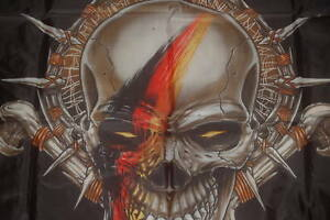 Totenkopf-Skull-Deutschland-Germany-schwarz-rot-gold-Flagge-150-x-90-cm-317