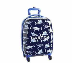 Pottery Barn Kids Shark Hard Case Rolling Luggage Small Ebay