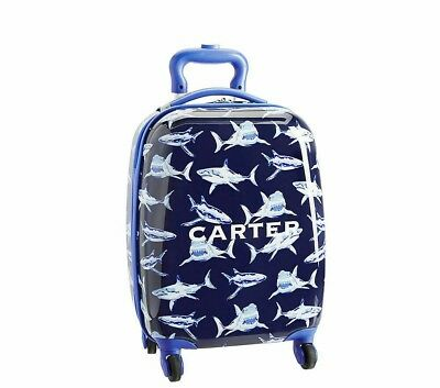 Pottery Barn Kids Shark Hard Case Rolling Luggage Small Ebay