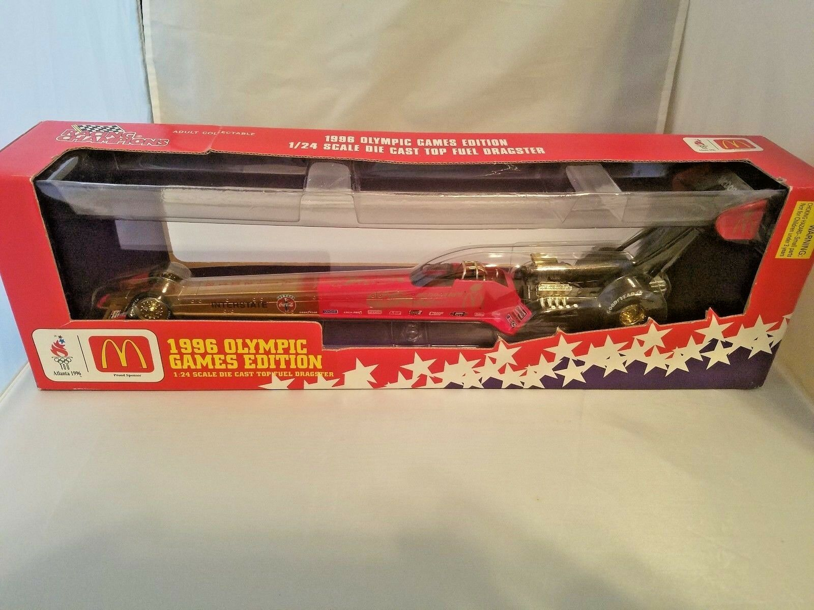 1996 1996 1996 McDonalds Olympic Games Edition 1/24 DieCast Top Fuel Dragster (NIB) GEM MT 425422