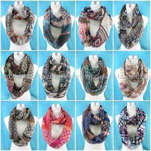 US Seller boho retro paisley double loop infinity scarf Women/'s Infinity Scarf