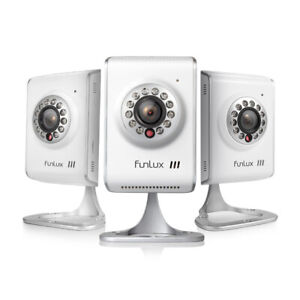 Funlux-3-Pack-720P-Network-Wireless-WiFi-IP-Home-Security-Camera-Two-Way-Audio