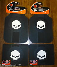 Harley-Davidson Willie G Skull Front and Rear Car Truck Rubber Floor Mats NEW