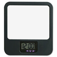 Lorell Cubicle Clock/mirror, Recycled, Black 80670 on Sale