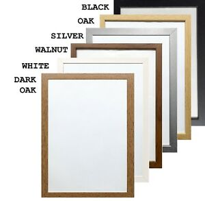 Photo Frames Frame Picture Square Black White A2 A3 A4 Poster A5 Oak Effect Home