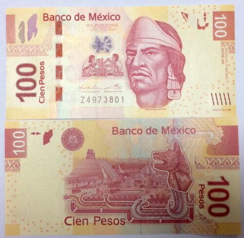 MEXICO 100 PESOS 2013 P 124 SERIES AK UNC