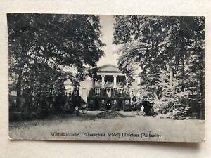 Ansichtskarte-Loebichau-Wirtschaftliche-Frauenschule-Schloss-b-Altenburg-1914