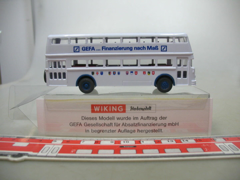 AF580-0, 5 x Wiking H0 (1 87) Promo   Special Model Gefa , Büssing Bus Ovp