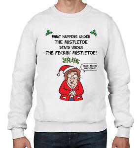 Mrs-Browns-Boys-Mistletoe-Men-039-s-Christmas-Jumper-Sweater-Present-Gift-Funny