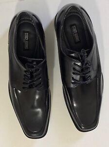 Stacy-Adams-Calhoun-20117-001-Men-039-s-Black-Lace-Up-Dress-Shoes-Size-12M-NWOB