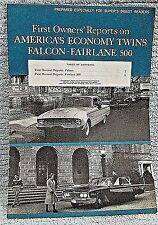 Old 1960 Ford Falcon Fairlane 500 Buyers Digest Owners Reports booklet FREE S/H