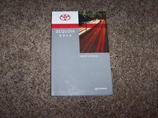 2012 Toyota Sequoia Owner Owner's User Guide Manual SR5 Limited Platinum V8