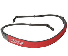 OpTech Fashion Strap 3/8 in Red Made USA Adjustable, Camcorder, Camera, Padded
