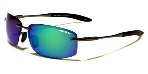 New BeOne Rimless Polarized Men/'s Driving Sunglasses
