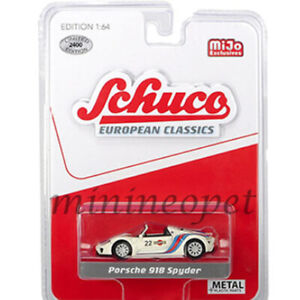 SCHUCO-8700-EUROPEAN-CLASSICS-PORSCHE-918-SPYDER-1-64-MARTINI-RACING-22-WHITE