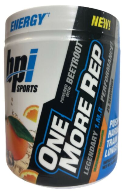 BPI Sports One More Rep Pre-Workout Hurricane Orange 25 Servings 8.8oz Exp 02/21