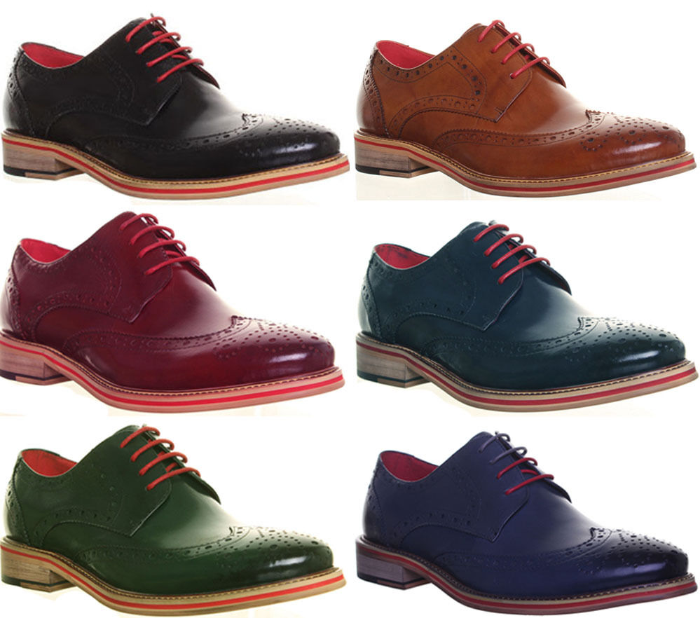 Justin Reece Wing Office Tip Brogues Designer Work Office Wing Formal Schuhe London Größe 9e55f2