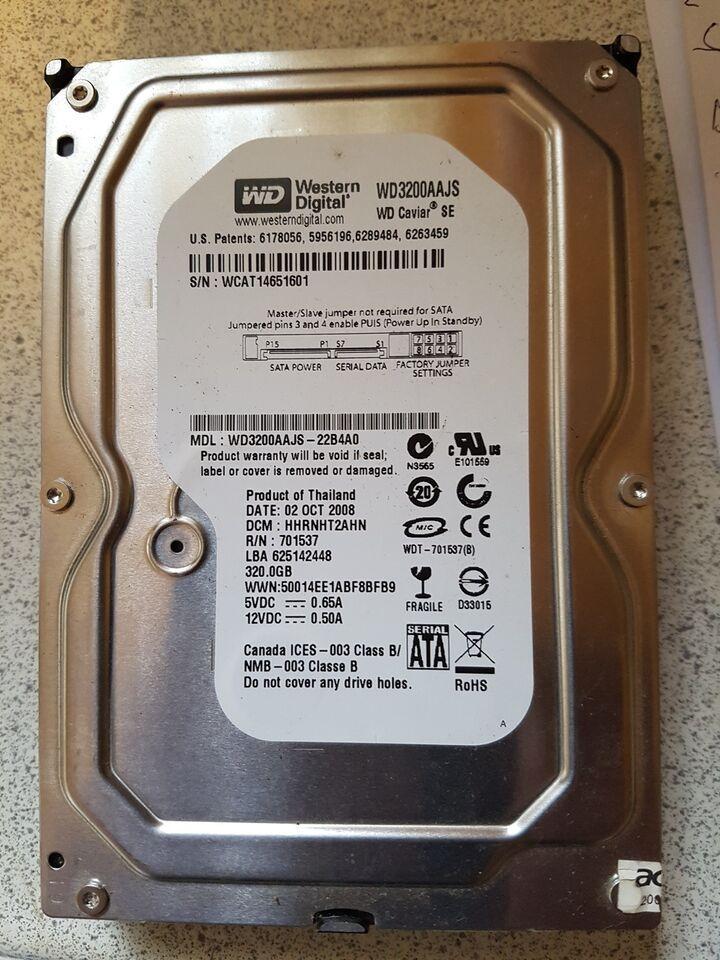 Wd3200aajs, 320 GB, God