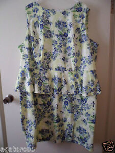 BRAND-NEW-ASOS-CURVE-UK-SIZE-26-DRESS-YELLOW-WHITE-GREEN-BLUE-FLORAL-COTTON