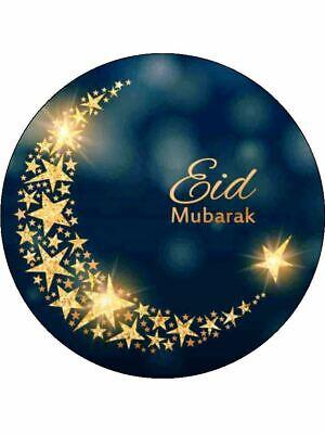 7 5 Ramadan Eid Mubarak Edible Premium Rice Paper Cake Topper Ebay