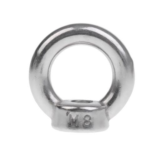 M8 M10 Gewinde 304 Edelstahl Hebe Augenmutter Schleife Loch für Kabel Seil