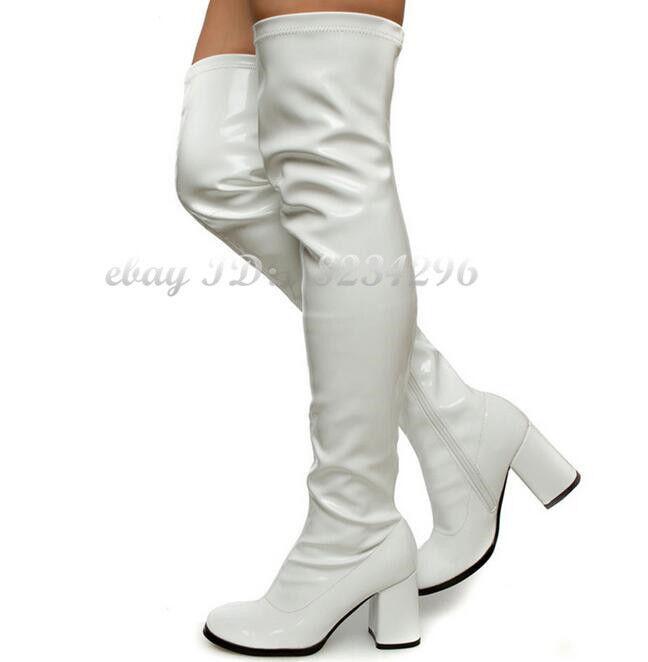 Kundenspezifische Kundenspezifische Kundenspezifische Stiefel Männer Frauen Lackleder Overkneestiefel Tanzstiefel 62f04e