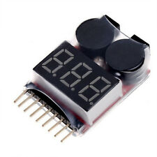 1-8S 2 in1 RC Li-ion Lipo Battery Low Voltage Meter Tester Buzzer Alarm USA Ship