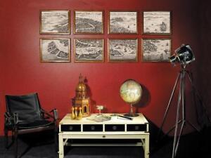 Aus Dem Ausland Importiert G349: Nostalgischer Stadtplan Von Venedig In 8 Blättern, Montiert 160 X 62 Cm